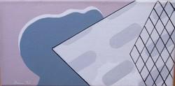 Deim Pál - Téli reggel 15 x 30 cm akril, vászon