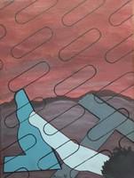 Deim Pál - Pieta 40 x 30 cm akril, vászon