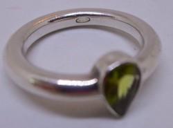 Szép peridot köves ezüst gyűrű