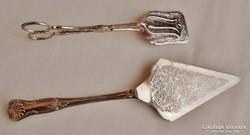Csodaszép  antik ezüstözött tálalókészlet