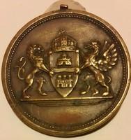 Sződy Szilárd? Székesfővárosi Alkalmazottak üdülőtelepe Balaton kenese 1924, bronz érem,mérete:41mm