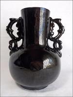 Lévai Albert jelzett két füles kerámia váza