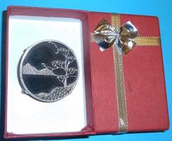 Antik japános ezüst kitűző bross 925-ös art deko deco artdeko