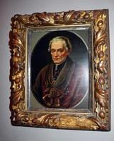 Fémlemezre festett antik portré 1800-as évek   NINCS MINIMÁLÁR !!!!!