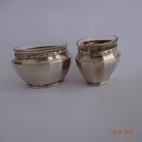 Art deco  ezüst fűszertartó pár