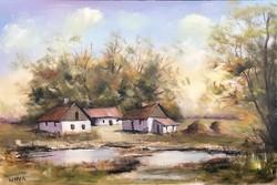 Alföldi tanya 2. - Eredeti KINVA festmény