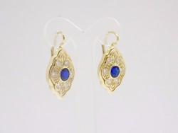 Kék köves arany fülbevaló (ZAL- Au 69120)