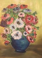 Virágcsendélet olaj, karton 41 X 51 cm