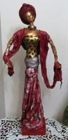 AFRIKA-szobor PAVERPOL/textil/ B.Tóth Irisz