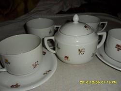 Zsolnay háború előtti ritka mintás teás készlett