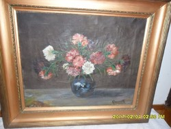Klammer Mariska virág csendélet olaj festmény