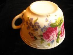 Bécsi  koma csésze , szép rózsákkal  11x6 cm