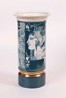 Zöld színű Szász Endre váza (26 cm magas) - RITKA