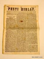 ÚJSÁG RITKASÁG! PESTI HIRLAP 1843 november 23 RÉGI EREDETI MAGYAR ÚJSÁG 1478