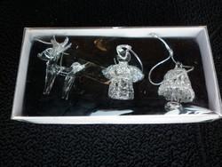 Kézzel készített üveg karácsonyfadíszek