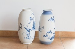 2 db Japán biszkvit művész váza 36 akvarell színek