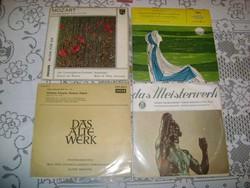 Régi gramofon komolyzenei hanglemez - négy darab