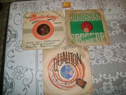 Három darab régi, magyar gramofon lemez