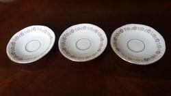 3db porcelán kávés csesze alja