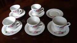 GDR Jlmenau porcelán kávés készlet