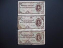3 darab 50 pengő 1945 egyben  03