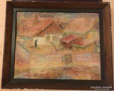 Meggyes László (1928-2003) pasztell, karton 56 x 46,5 cm