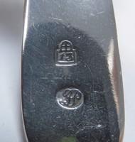 6 darab ezüst kiskanál