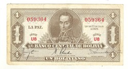 1 Biliviano 1928 Bolivia