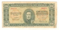 50 centesimos 1939 Uruguay