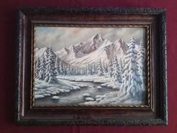 Neogrády László festménye: Téli Tátra