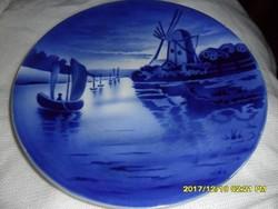 Antik Villeroy Boch majolika fali tányér