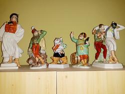 5  db  herendi  porcelán  figura  egyben