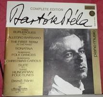 """Bartók Béla """"Complete Edition"""" album bakelit lemez."""