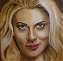 Nóth Inga - Scarlett (Scarlett Johannson) EREDETI Nóth Inga festmény