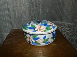 Papagáj mintás porcelán ékszertartó - bonbonier