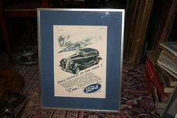 Ford Illusztráció / reklámplakát 1933
