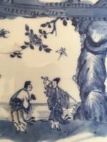 Kangxi (1662-1721) kínai kék-fehér porcelán  tányérok