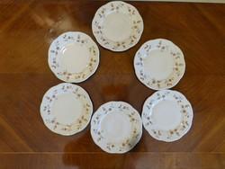 6  db. Zsolnay kis tányér.