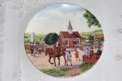 Royal Doulton dísztányér - Journey through the Village 8.
