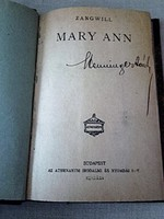 Antik könyv  -     Zangwill   Mary Ann -  világirodalom