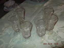 RETRO pálinkás talpas pohár 6 darab