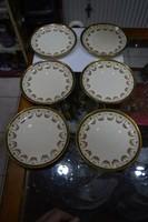 6 darab sarreguemines teás csésze alj