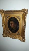 1,-Ft Extrém gyönyörű Biedermeier káprázatos festmény!Eredetiségére garancia van.