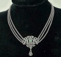 Meseszép antik ezüst nyakék