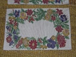 3 db szőtt textil alátét étkezéshez