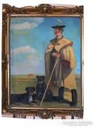 Karsai Varga - Juhász régi festmény