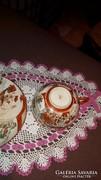 Tojáshéjból Antik Csésze + Tányér