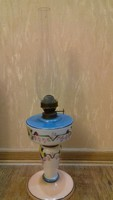 Antik festett petróleum lámpa