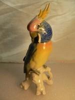 Gyönyörű papagáj (kakadu) - 19,5 cm - Karl Ens porcelán