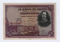 Spanyol 50 Peseta 1928 Szép állapotban